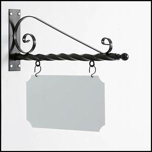 wrought iron board Hanging Chalk Board Sign Bracket ...