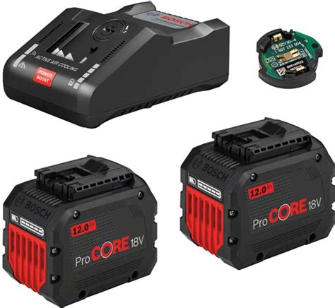 Akumulatoru un lādētāja komplekts BOSCH GBA 18V, 2x12Ah ProCORE + GAL 18V-160 C, 1600A016GY ...