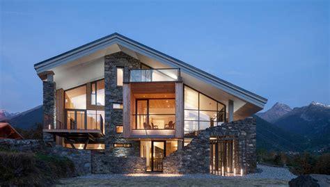 Modern Mountain House Incredible Houses Glass   House