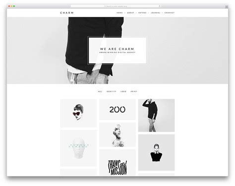 charm simple portfolio website template web design