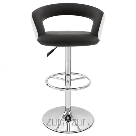 Black And White Stool by Black And White Monza Adjustable Height Swivel Armless Bar