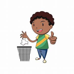Boy Throwing Garbage Clipart & Boy Throwing Garbage Clip ...