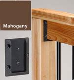 deckorators railing connectors mahogany