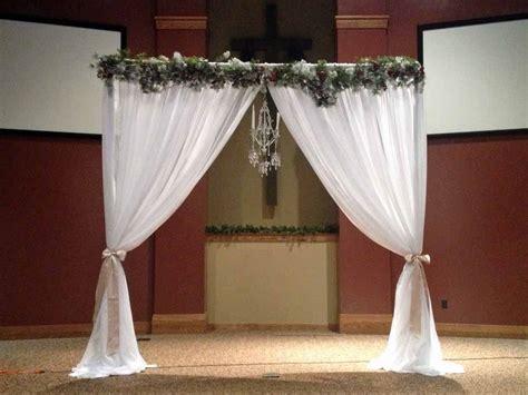 Real Wedding Ceremony Backdrop Elite Events Rental