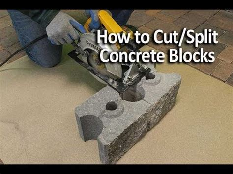 How To Cut And Split Concrete Blocks  Youtube