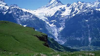 Mountains Height Break Greens Meadow Distance Background