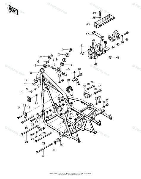 Kawasaki Motorcycle Oem Parts Diagram For Frame