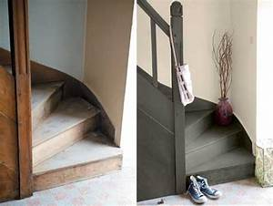Renover Un Escalier En Bois : peinture sol pour repeindre carrelage escalier et parquet ~ Premium-room.com Idées de Décoration