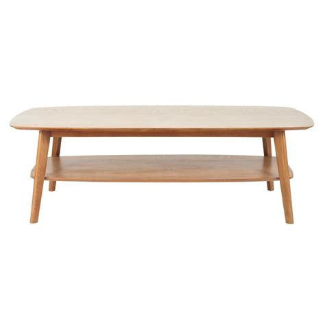 solid oak coffee table solid oak coffee table w 130cm portobello maisons du monde
