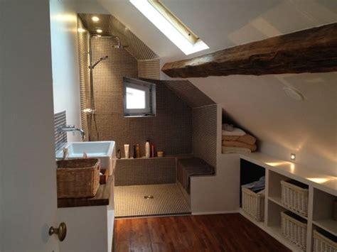 salle de bains sous les toits home style produits de conception salle de