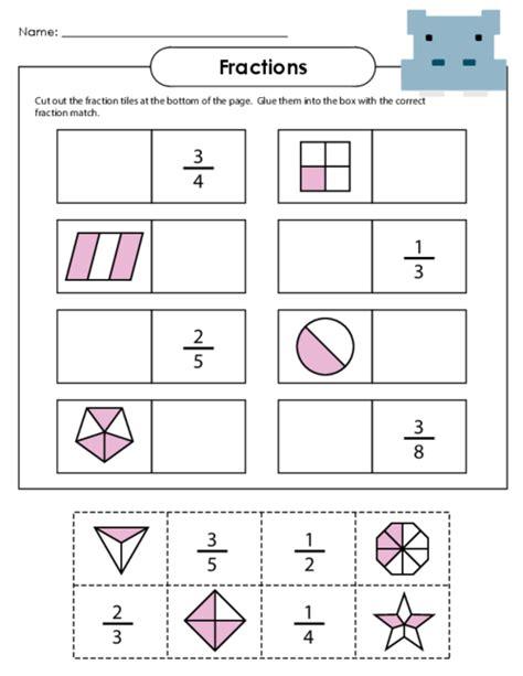 Number Names Worksheets » Basic Fraction Worksheet  Free Printable Worksheets For Pre School