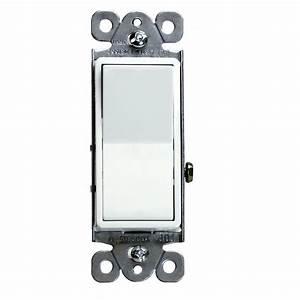 Lot Of 100 Decorator 15a Rocker Switch Single Pole Light Controller White