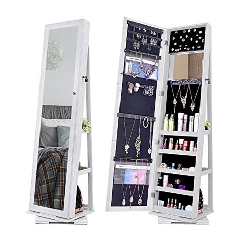 Nex 360 Degree Rotatable Jewelry Cabinet With Fulllength