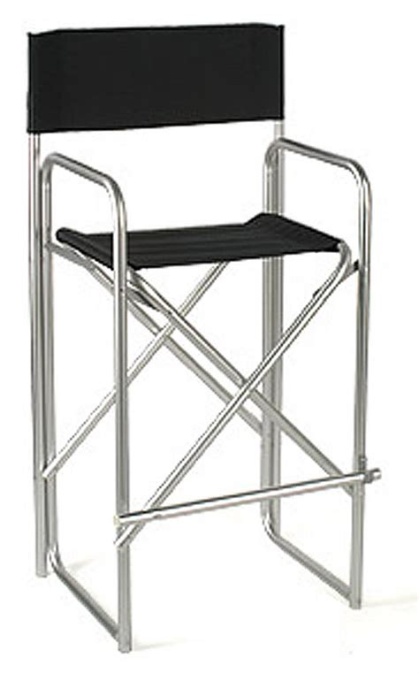 metal folding directors chair aluminum black