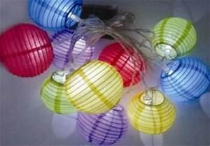Lampion Lichterkette Solar : solar led bunte lampionkette lampions lampion kette ~ Watch28wear.com Haus und Dekorationen