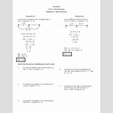 Segment Addition & Bisectors Test Recovery Worksheet By Lexie Tpt