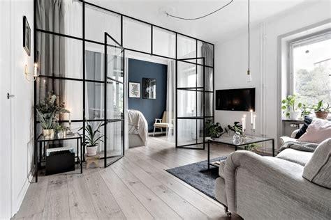 Bauhaus Style Home With Interior Glass Walls by квартира студия 8 советов от дизайнеров Simple Beyond