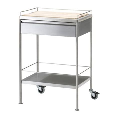 FLYTTA Kitchen cart, stainless steel   Kitchen Goodies