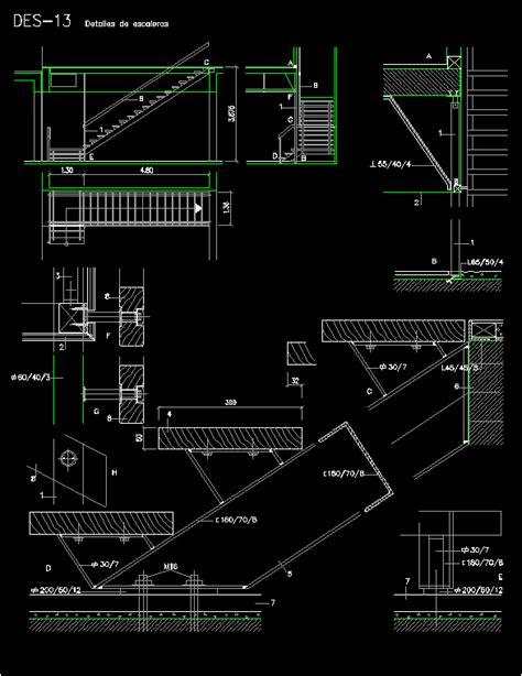 metal detail  step ladder wood dwg detail  autocad