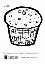 Muffin Coloring Muffins Template Printable Edupics Sheets Colouring Cupcake sketch template