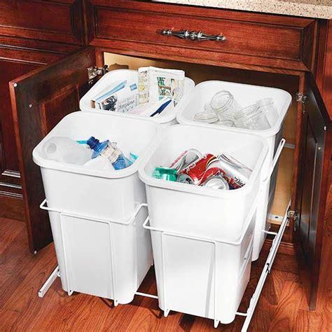 kitchen recycling center 17 kitchen organization storage tips
