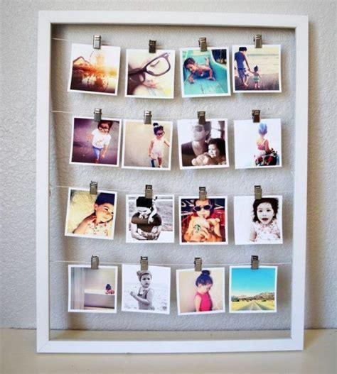 Viele Fotos Aufhängen by Viele Polaroids In Einem Bilderrahmen Basteln