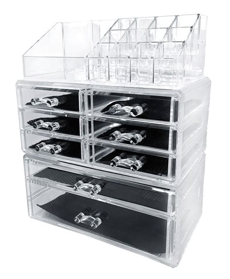 acrylic makeup drawers sodynee acrylic makeup cosmetic organizer storage drawers