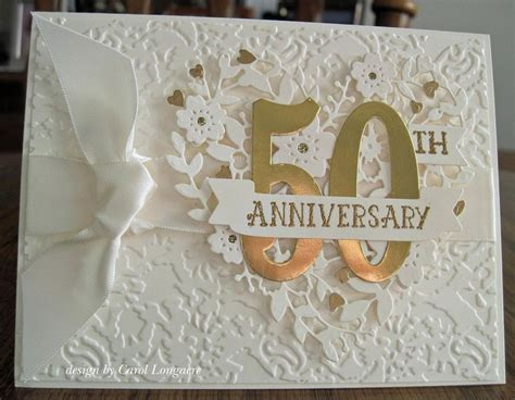 wedding anniversary card  images anniversary cards handmade golden anniversary