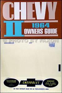 1964 Chevy Ii  Nova   U0026 Ss Reprint Owner U0026 39 S Manual Package