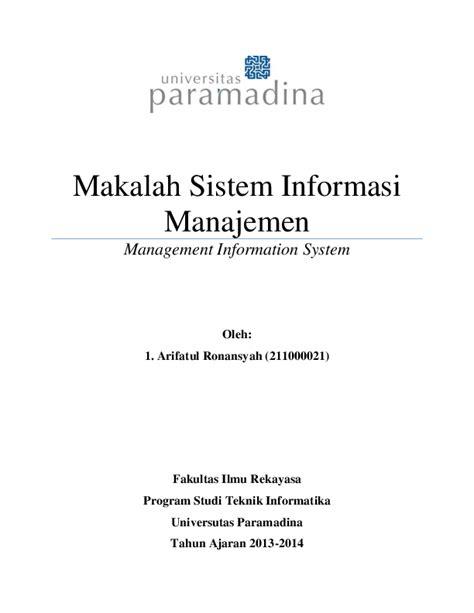 (PDF) Makalah Sistem Informasi Manajemen Management