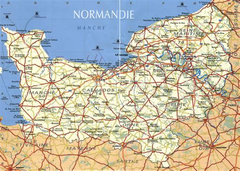 Carte De Normandie Detaillee by Getting To Normandy