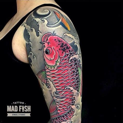 cool japanese koi fish tattoo  left  sleeve