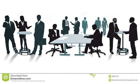 affaires de bureau silhouettes des gens d 39 affaires au bureau image stock