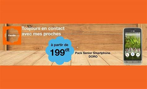 orange tunisie siege smartphone le doro 8031 partir de 199dt chez orange