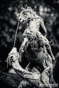 Statue Of St  George Killing The Dragon
