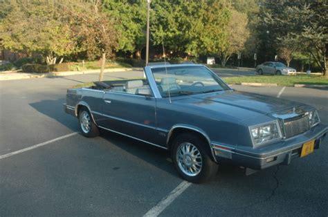 84 Chrysler Lebaron by 84 Chrysler Le Baron Convertible Retro Classic For Sale