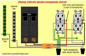 Wiring Diagram For A 20 Amp Double Receptacle Circuit