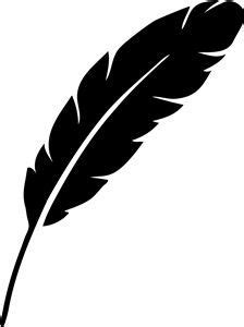feather outline cliparts   clip art