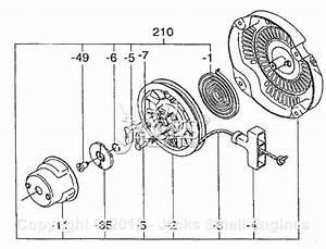 Robin  Subaru Ex21  Rev 07  13  Parts Diagram For Recoil Starter