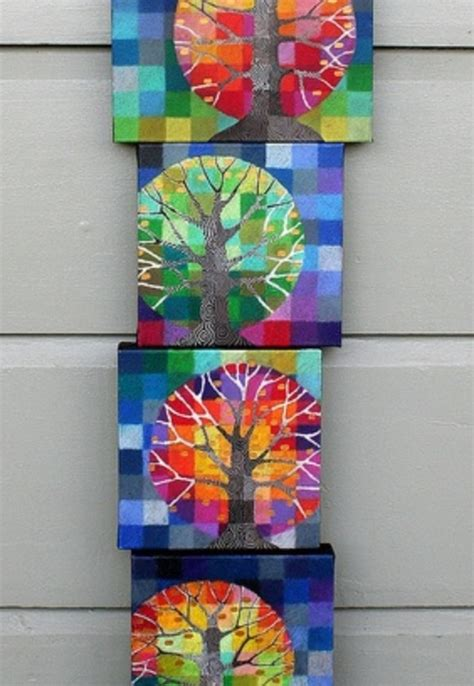 and craft ideas mosaic look canvases craft ideas mosaics 7283