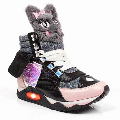 Sneakers Leather Cat Shoes Kitty Platform Adults