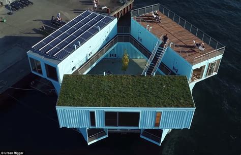 cheap floating riggers transforms shipping containers in copenhagen