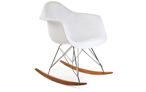 eames style rar rocking chair fibreglass