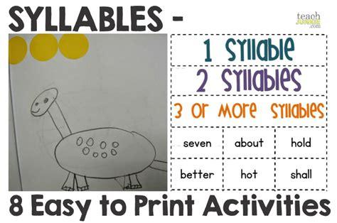all worksheets 187 free syllable worksheets for kindergarten