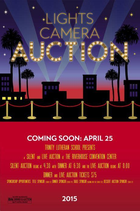 hollywood lights red carpet  themed auction