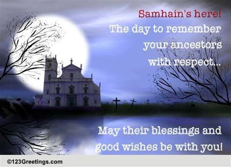 ancestors blessings good wishes  samhain ecards