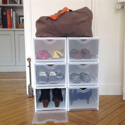 boite de rangement ikea empilable bo 238 te rangement chaussures plastique empilable