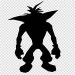 Cartoon Silhouette Bandicoot Crash Clipart Doctor Transparent