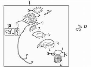Mazda 626 Hvac Blower Motor Housing  Upper   Upper