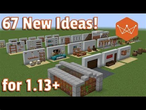 minecraft tutorial  decoration design ideas   trapdoors item frames  buttons youtube
